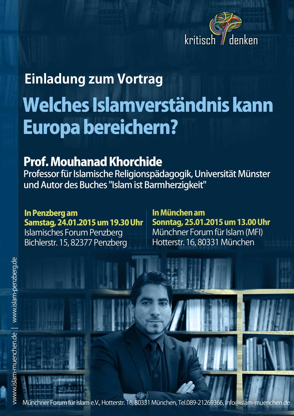 IGP Veranstaltung: Vortrag von Mouhanad Khorchide