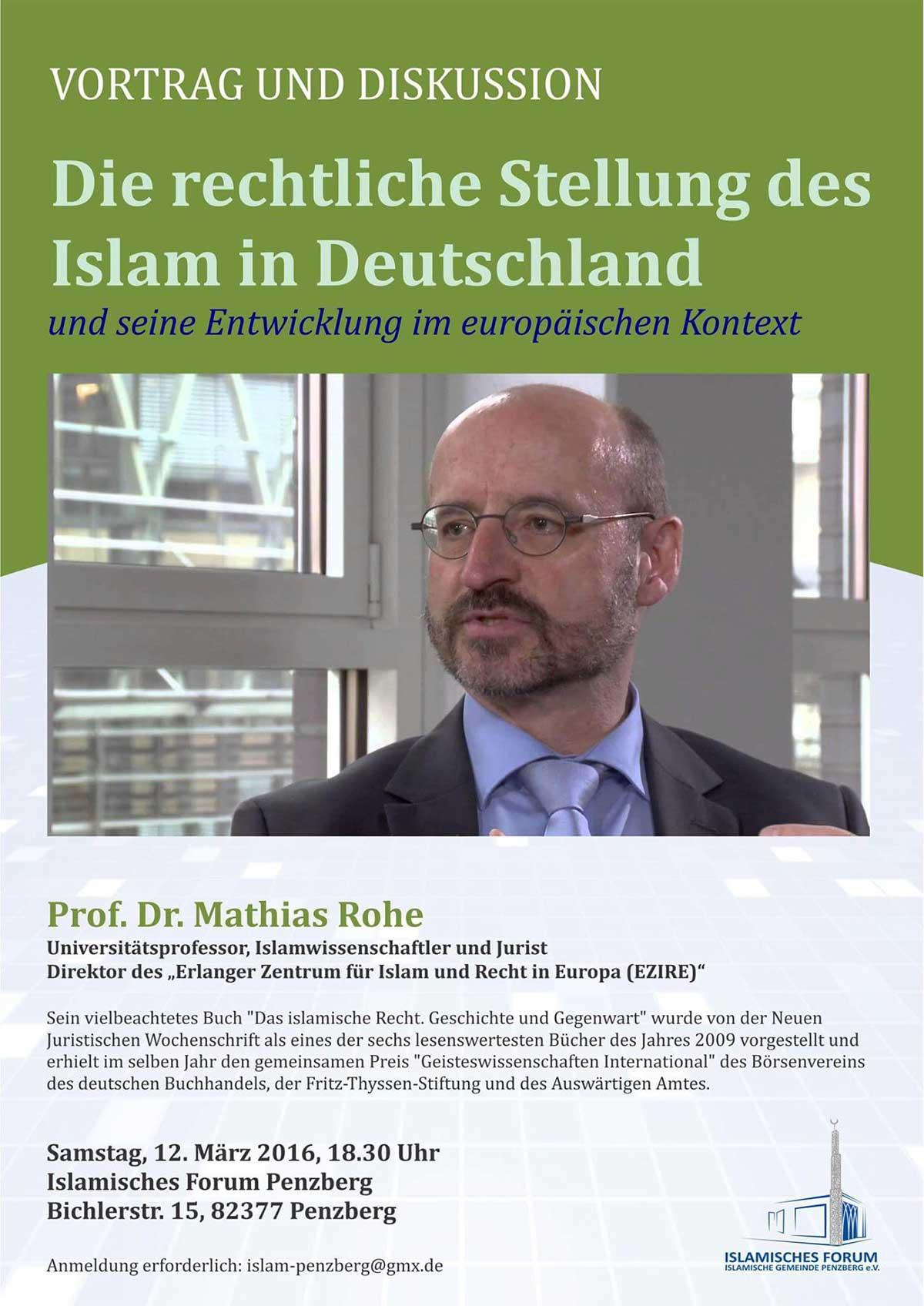 IGP Veranstaltung: Die rechtliche Stellung des Islam in Deutschland