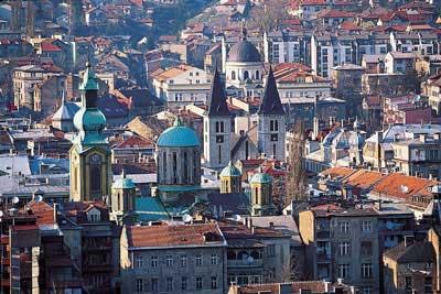Moscheen, Kirchen und Synagogen in Sarajevo Moscheen, Kirchen und Synagogen in Sarajevo