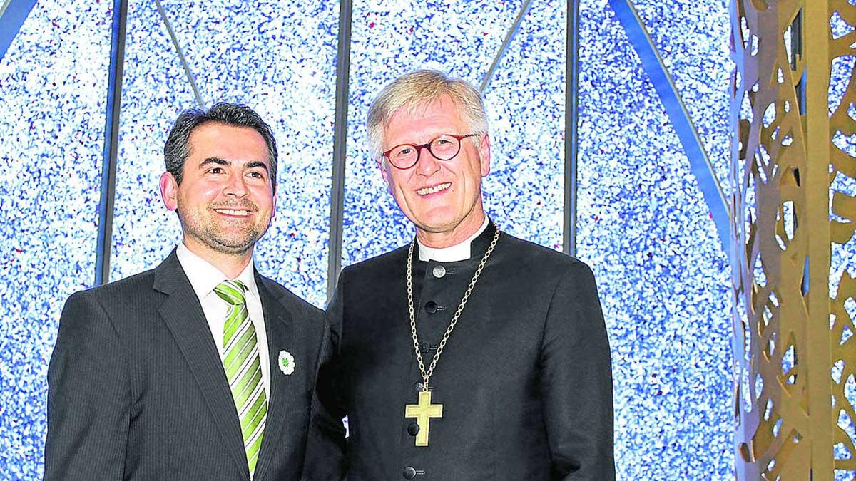 Landesbischof Bedford-Strohm und Imam Benjamin Idriz