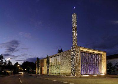 Moschee Penzberg Nachtansicht