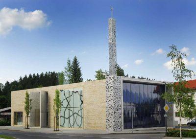 Moschee Penzberg Tagesansicht