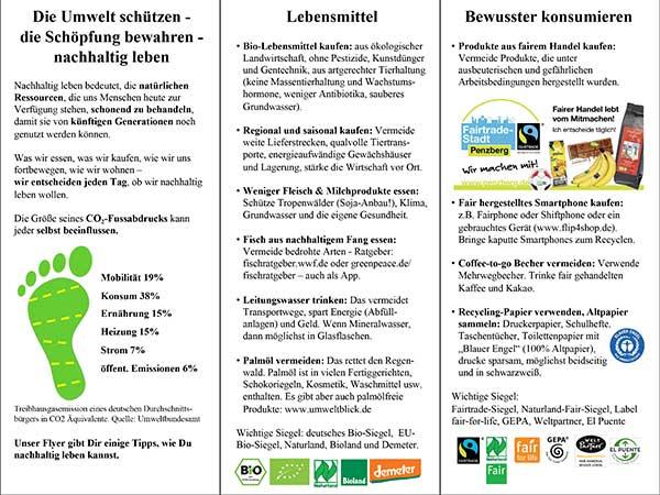 Interreligiöses Umweltteam Penzberg: Flyer Mai 2020