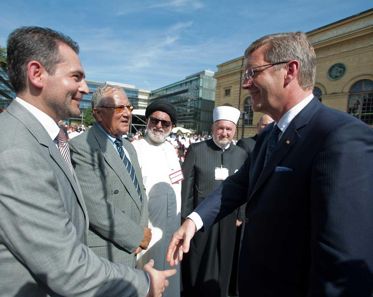 Imam Idriz und Christian Wulff