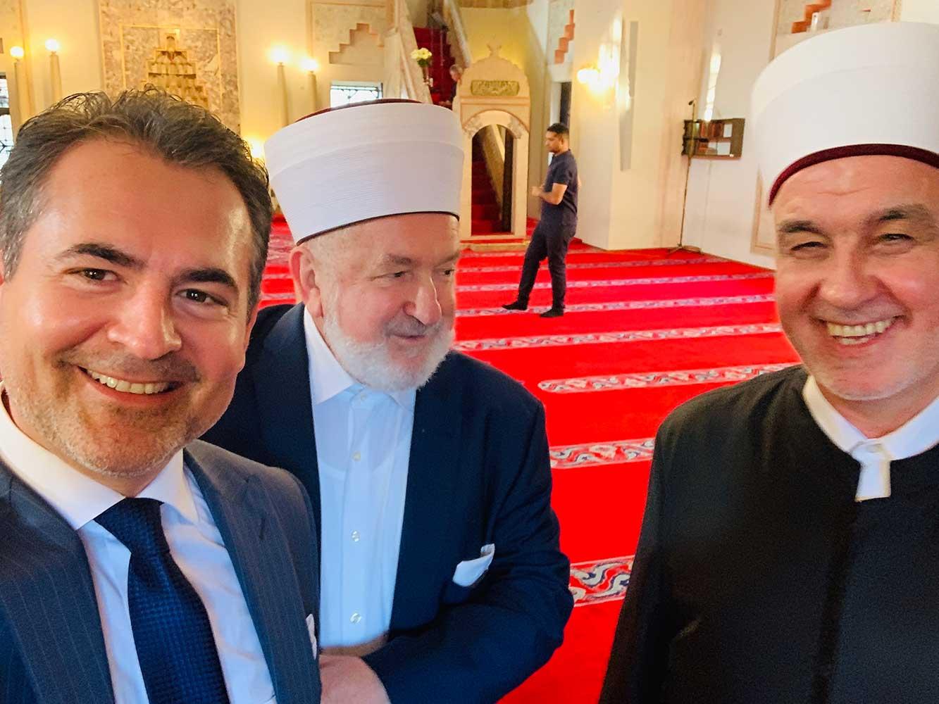 Mit den Großmuftis von Bosnien und Herzegowina, Dr. Mustafa Ceric und Dr. Husein Kavazovic