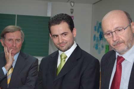 Idriz mit Martin Neumeyer und Alois Glück
