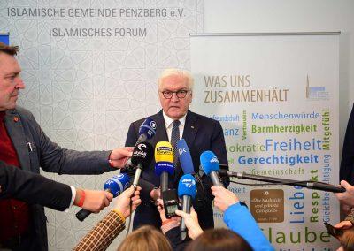 Presseauftritt des Bundespräsidenten