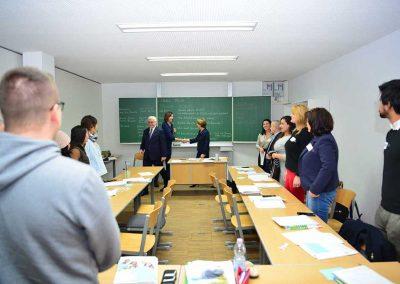 Kurzer Besuch im Deutschkurs