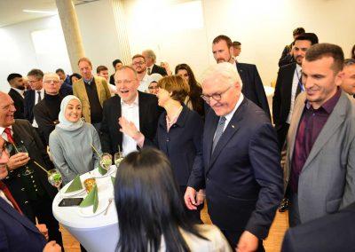 Empfang zu Ehren des Bundespräsidenten mit Alt-Bürgermeister Hans Mummert und Ehrengästen aus München