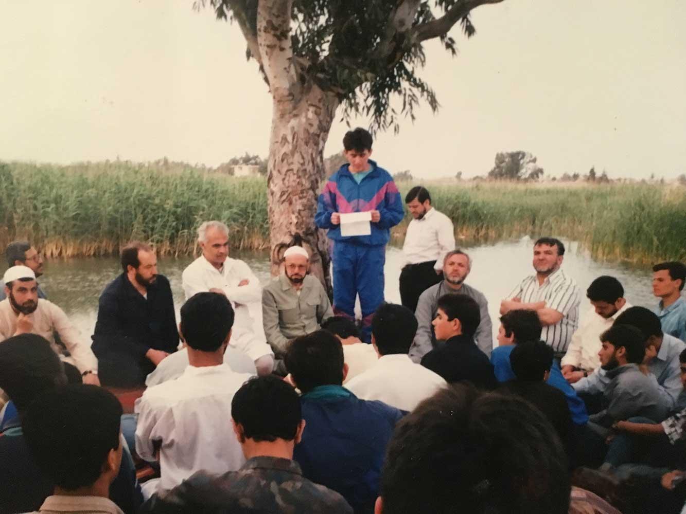 Als Schülersprecher mit Professoren und Schülern beim Ausflug in Damaskus