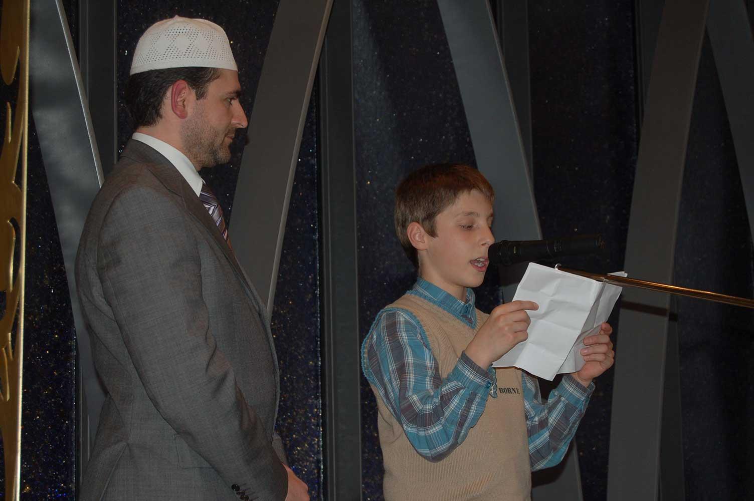 Imam Idriz beim Kinderfest