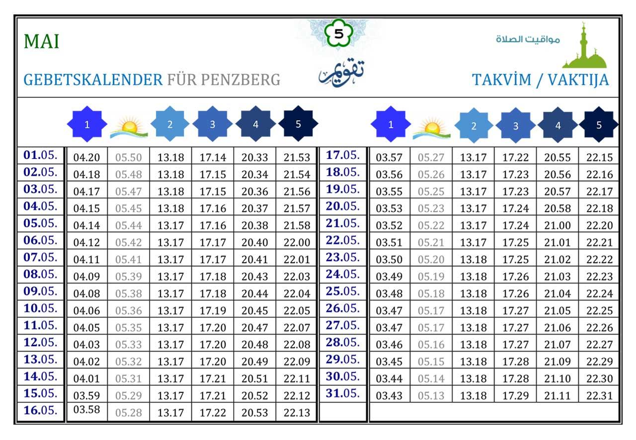 Gebetskalender Penzberg Mai