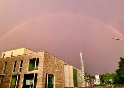 Regenbogen über Moschee Penzberg